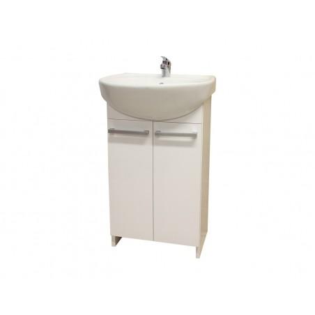 Tvättställsskåp Vit Komplett Set