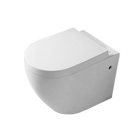 Vägghängd toalettstol  Carlo Mini Rimless Lux Cover