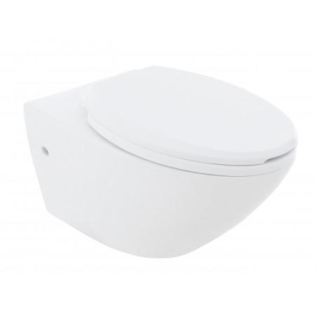Vägghängd toalettstol  Leon Rimless